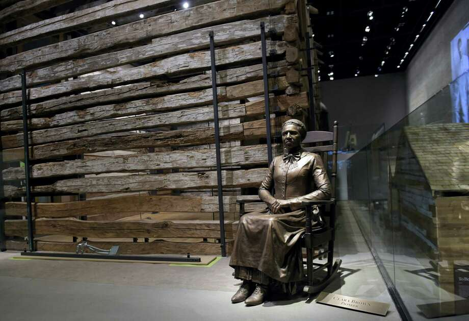 A statue of pioneer Clara Brown, who was born a slave in Virginia around 1800, is on display at the National Museum of African American History and Culture in Washington, Wednesday. Brown travelled to Colorado, after she was freed when her slaveowner died in 1856, where she established a successful laundry business. Photo: Susan Walsh — The Associated Press  / Copyright 2016 The Associated Press. All rights reserved.
