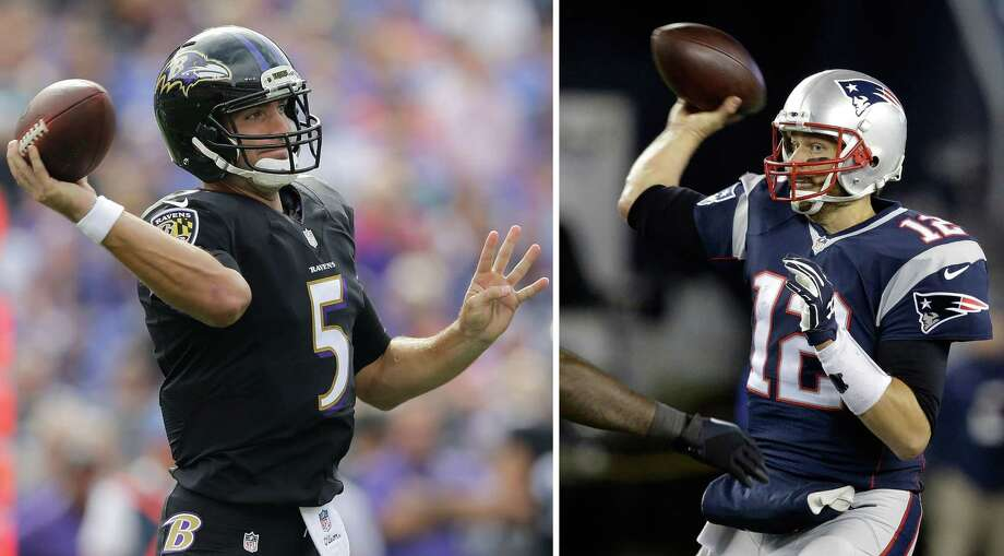 Joe Flacco and the Baltimore Ravens will meet Tom Brady and the New England Patriots in an AFC divisional playoff game in Foxborough, Mass. Photo: Stephan Savoia — The Associated Press File Photo  / AP