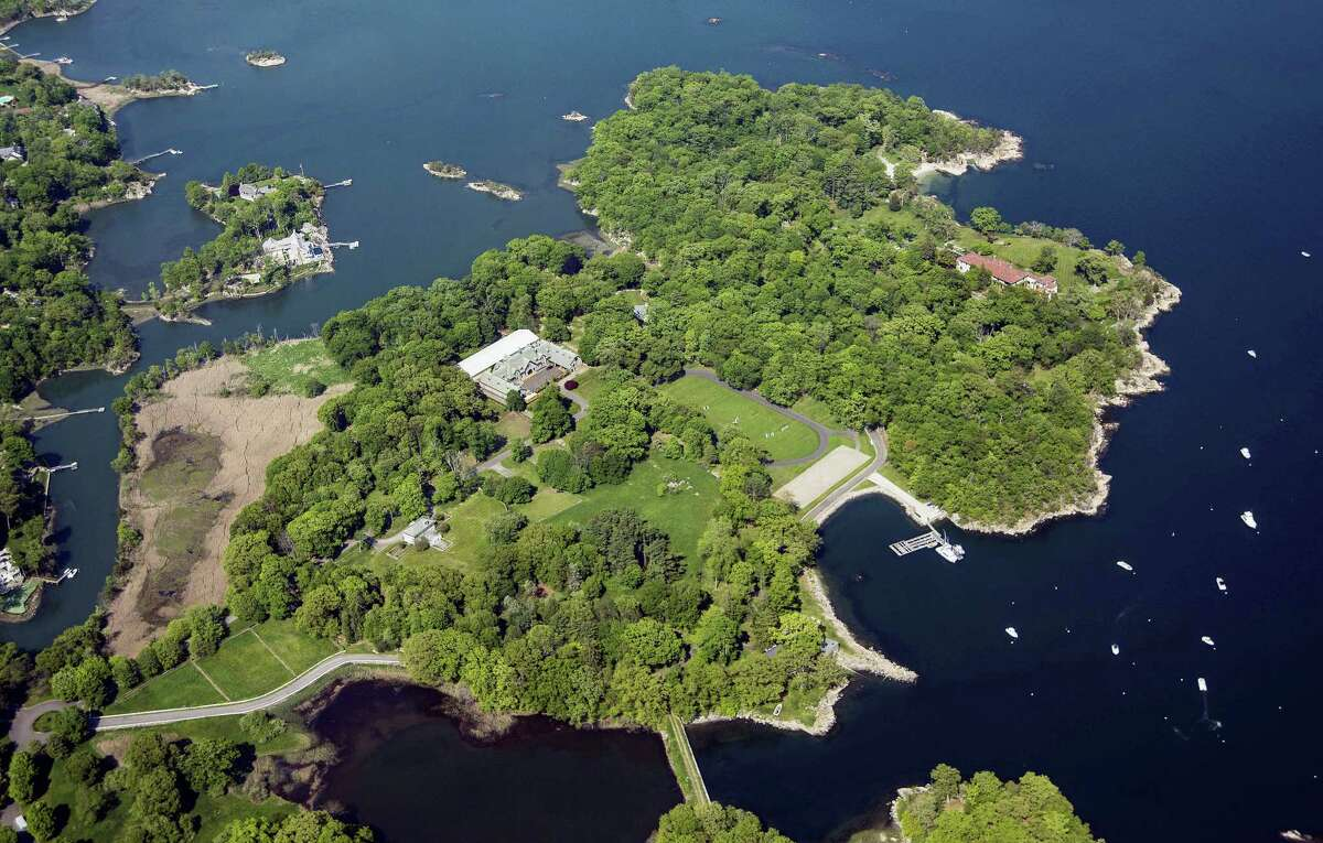 A 63-acre estate sits on Great Island in Long Island Sound in Darien. The property went on sale Thursday, Sept. 15, 2016, with an asking price of $175 million. Industry experts said that would easily break a record for the most ever paid for a residential property in the United States. Since about 1900, the property has belonged to the family and descendants of William Ziegler, an industrialist who made his fortune in baking powder.