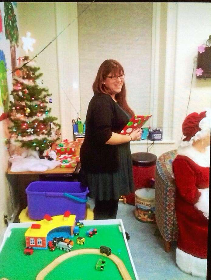 Michelle Ouellette at the Susan B. Anthony Christmas party in 2013. Photo: Contributed Photo