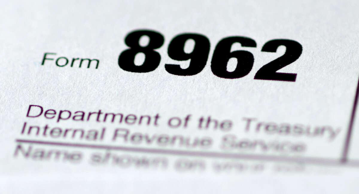 Health care tax form 8962 is seen in Washington.