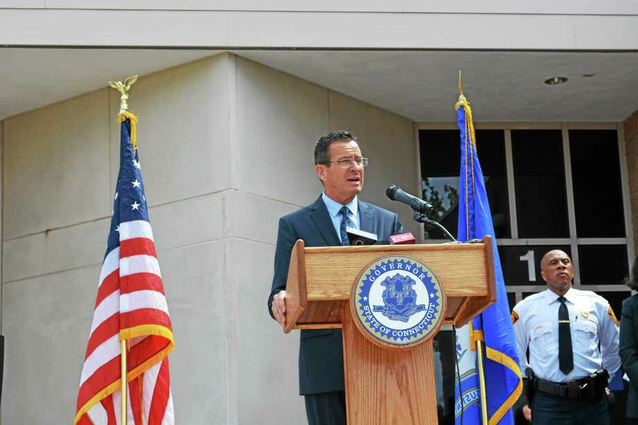 """Gov. Dannel P. Malloy at Connecticut Juvenile Training School in Middletown speaking about a """"Second-Chance Society."""" Photo: Cassandra Day — The Middletown Press"""