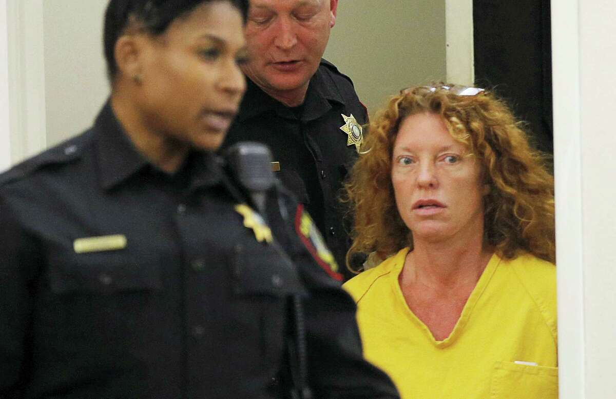 """Tonya Couch appears in court in Fort Worth, Texas, Friday, Jan. 8, 2016. The mother of Ethan Couch, who used an """"affluenza"""" defense after killing people in a drunken-driving wreck, appeared in court on a charge of hindering the apprehension of a felon."""