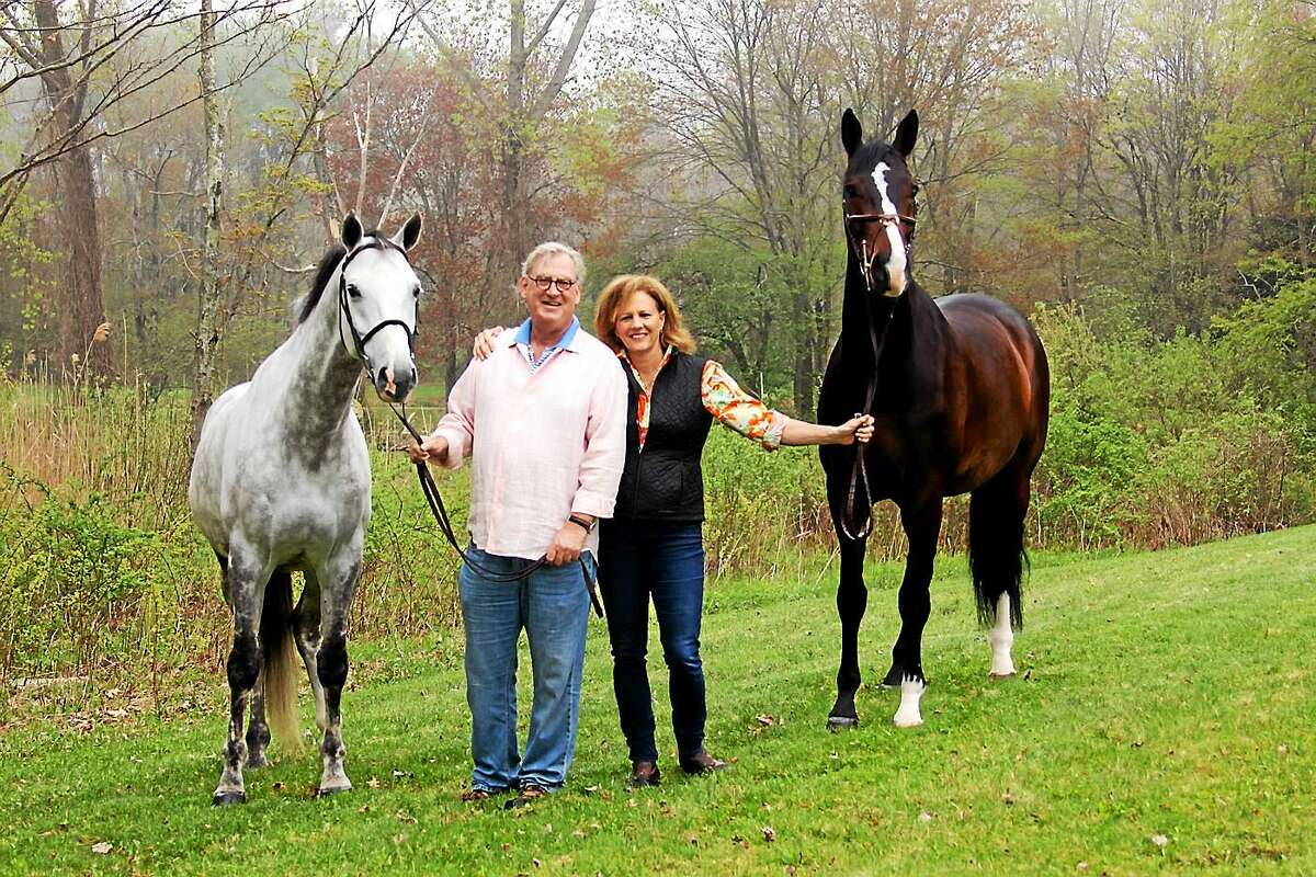 Russell Barton and Susi Stone at their White Bridge Farm in Litchfield.