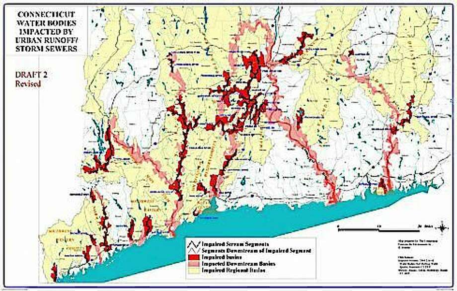 Impaired waterways map Photo: Courtesy Of CTNJ