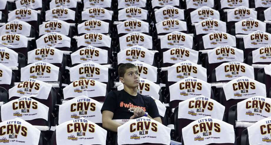 The Cleveland Cavaliers played a video during Wednesday night's game that showed a man throwing a woman across a room for wearing a Bulls T-shirt. Photo: Tony Dejak — The Associated Press  / AP