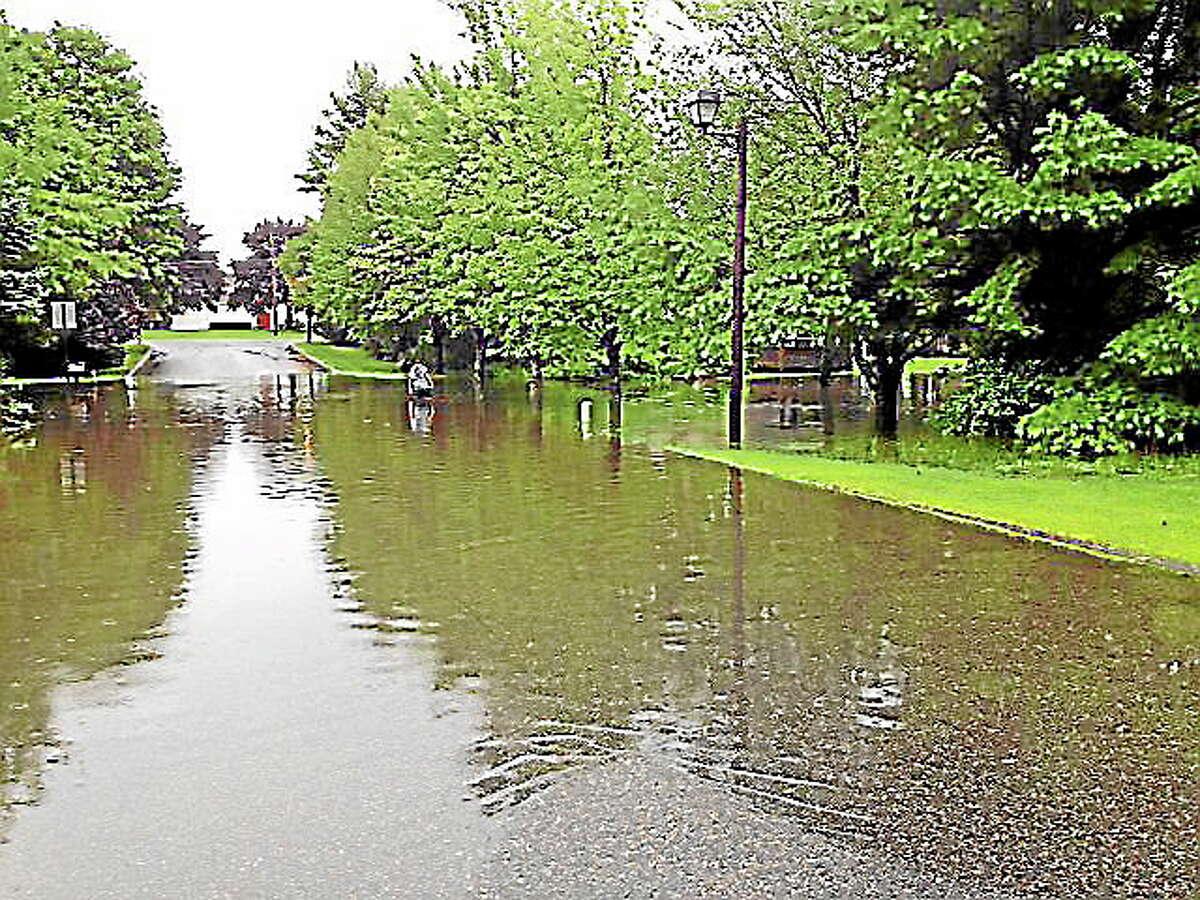 Flooding in Torrington in 2013.