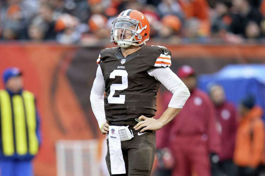 Troubled Browns quarterback Johnny Manziel was cited for driving with expired license plates last weekend. According to police in North Olmsted, Ohio, Manziel was stopped at 8:28 a.m. on Saturday, Jan. 3, 2016, while driving on Interstate 480. Photo: The Associated Press File Photo  / FR25496 AP
