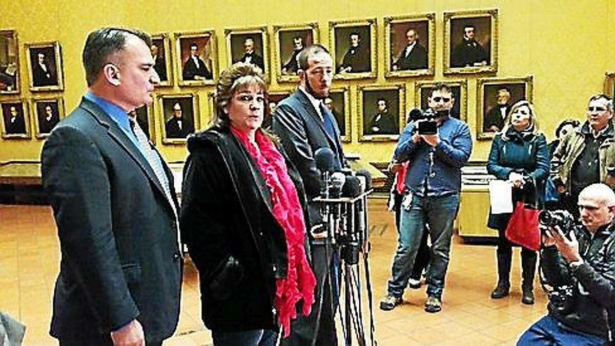 Jackie Fortin after court ruling. (Hugh McQuaid - CTNewsJunkie)