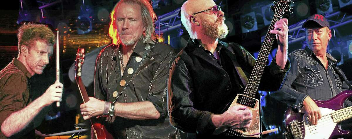 Contributed photo Wishbone Ash, shown here in a collage photo, performs at Infinity Music Hall in Norfolk Sept. 24.
