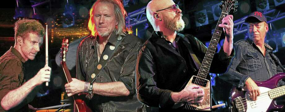 Contributed photo Wishbone Ash, shown here in a collage photo, performs at Infinity Music Hall in Norfolk Sept. 24. Photo: Journal Register Co.