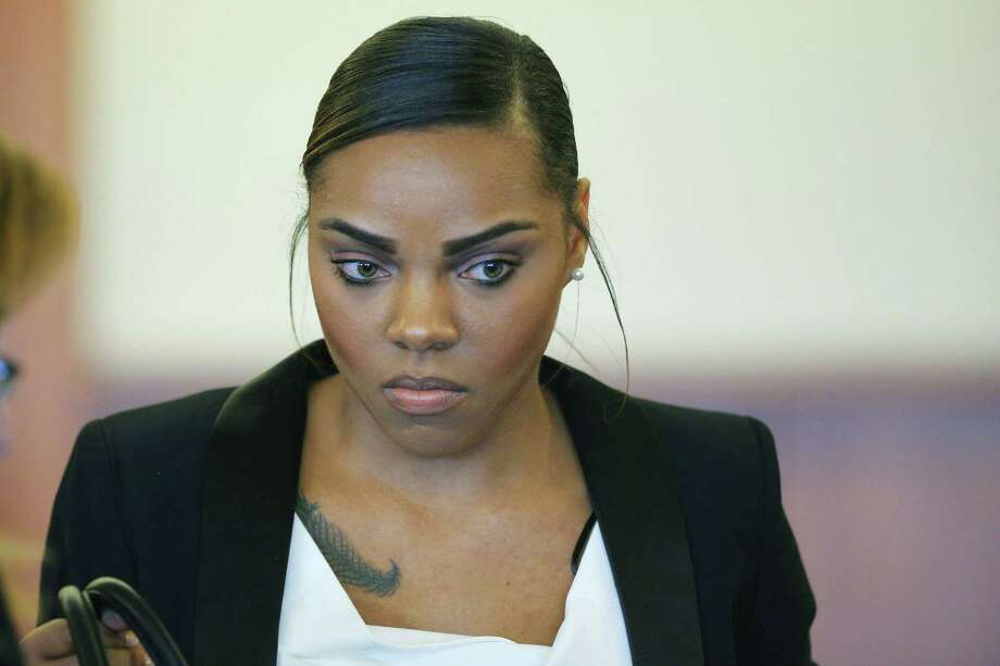 Shayanna Jenkins, fiancée of former New England Patriots tight end Aaron Hernandez, went before the judge Wednesday on a prosecutors' petition to grant her immunity in the case. She faces perjury charges for lying to a grand jury hearing the case against Hernandez, who is awaiting trial on charges of murdering Odin Lloyd in 2013. Photo: Brian Snyder — The Associated Press File Photo  / Pool, Reuters