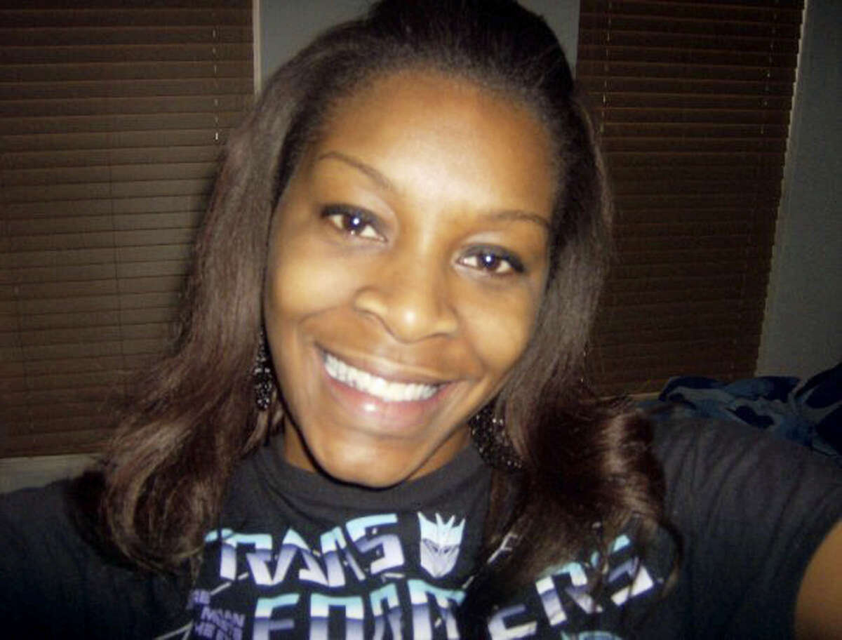 In this undated photo provided by the Bland family, Sandra Bland poses for a photo. A grand jury indicted Trooper Brian Encinia on Wednesday, Jan. 6, 2016, with the misdemeanor charge. Encinia has been on desk duty since Bland was found dead in her cell in July. Her death was ruled a suicide.