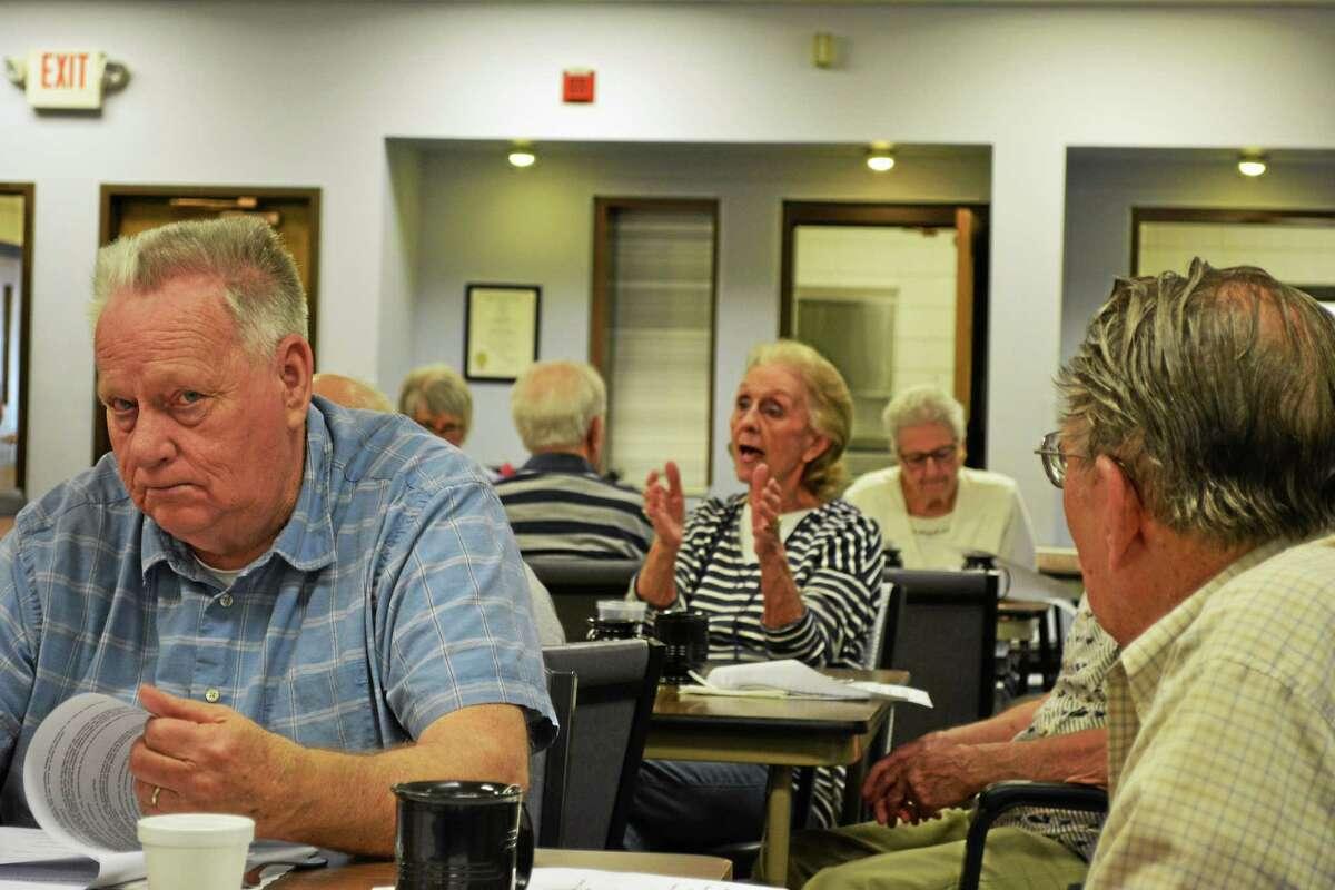 Officer Tony Pietrafesa spoke to members of the Sullivan Senior Center on Wednesday about senior safety tips.