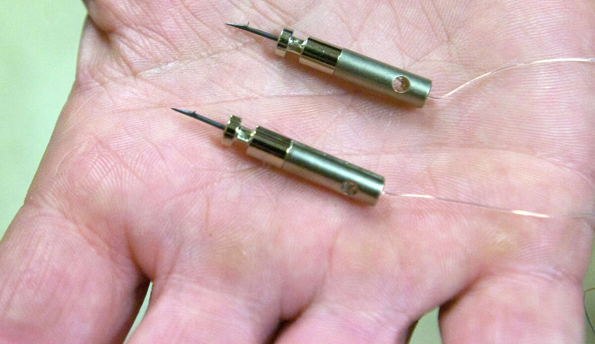 The probes for a Taser X26.