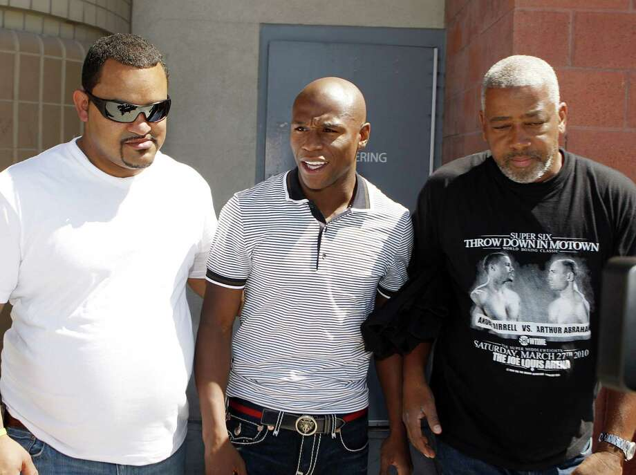 The mother of three of Floyd Mayweather's children has sued the undefeated champion for defamation over his recent comments about a 2010 domestic violence incident in Las Vegas. Josie Harris filed the lawsuit Tuesday in Los Angeles. Photo: Isaac Brekken — The Associated Press File Photo  / FR159466 AP