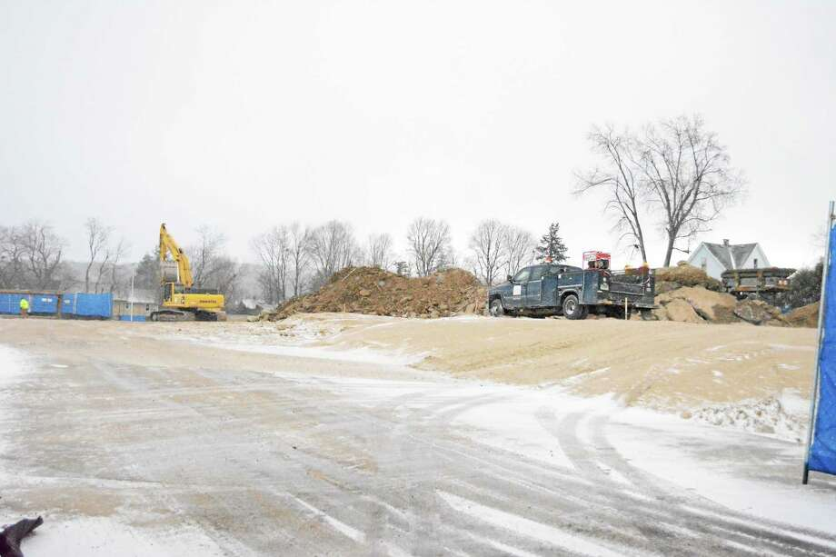 Construction is underway for the new Litchfield County courthouse on Field Street in Torrington. Photo: Amanda Webster — The Register Citizen