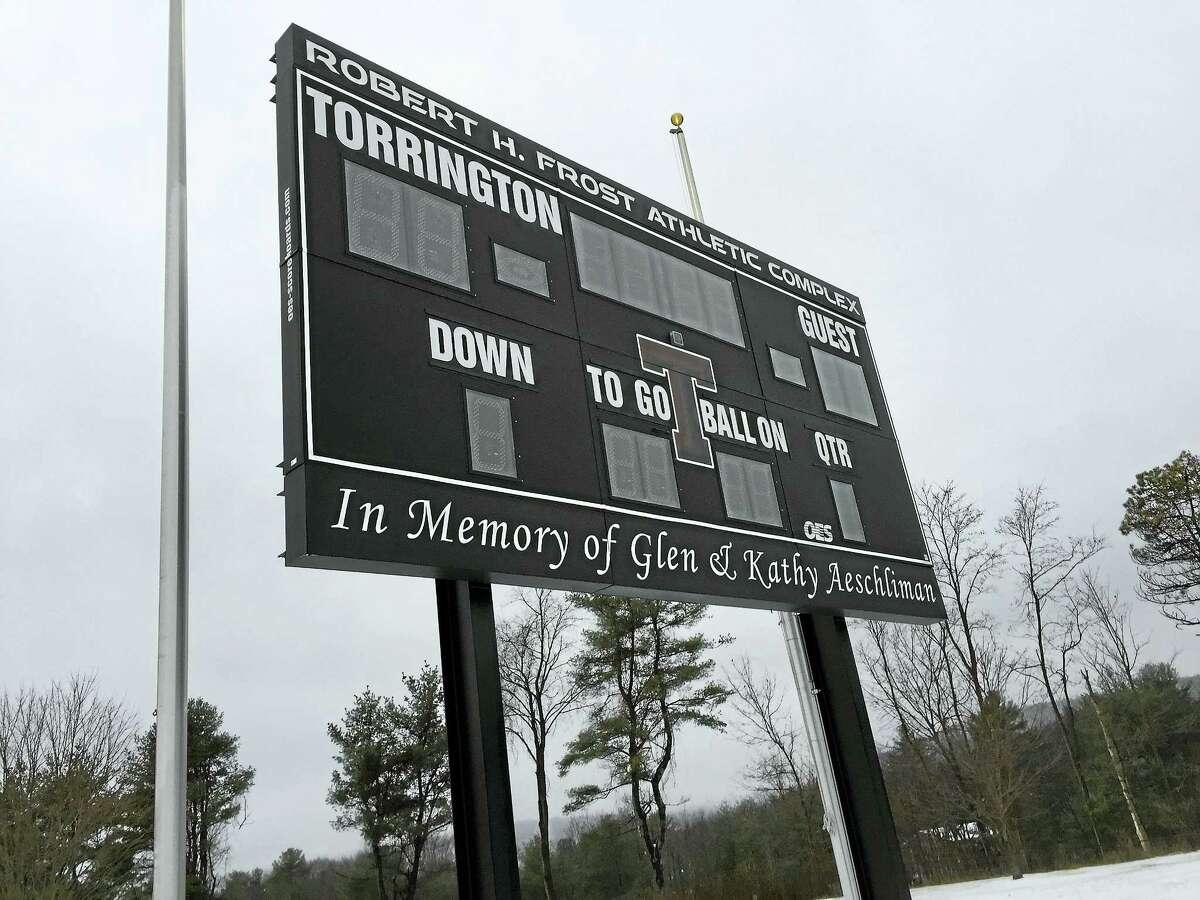 The recreational field at Torrington High School.