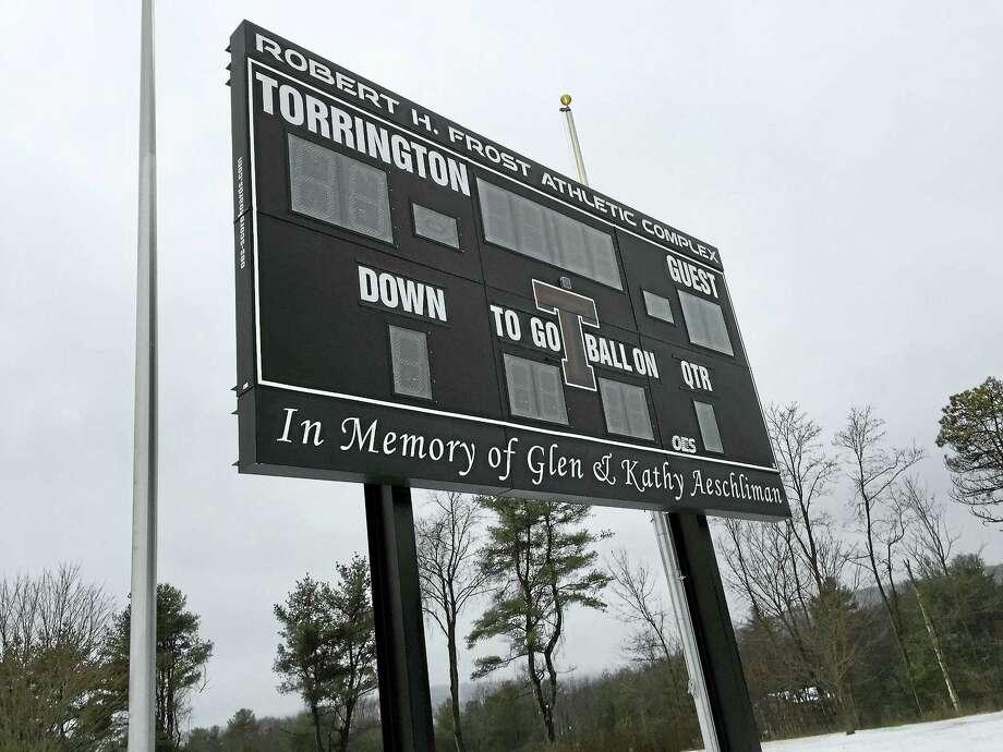 The recreational field at Torrington High School. Photo: BEN LAMBERT — The Register Citizen