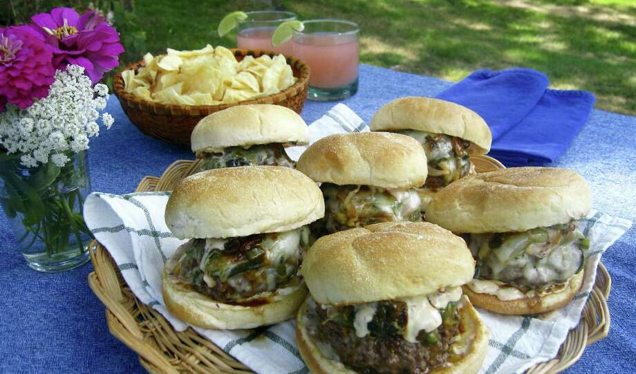 Don't look here for health food, but beer-steamed chili cheeseburgers are delicious. Photo: Sara Moulton Via AP  / Sara Moulton