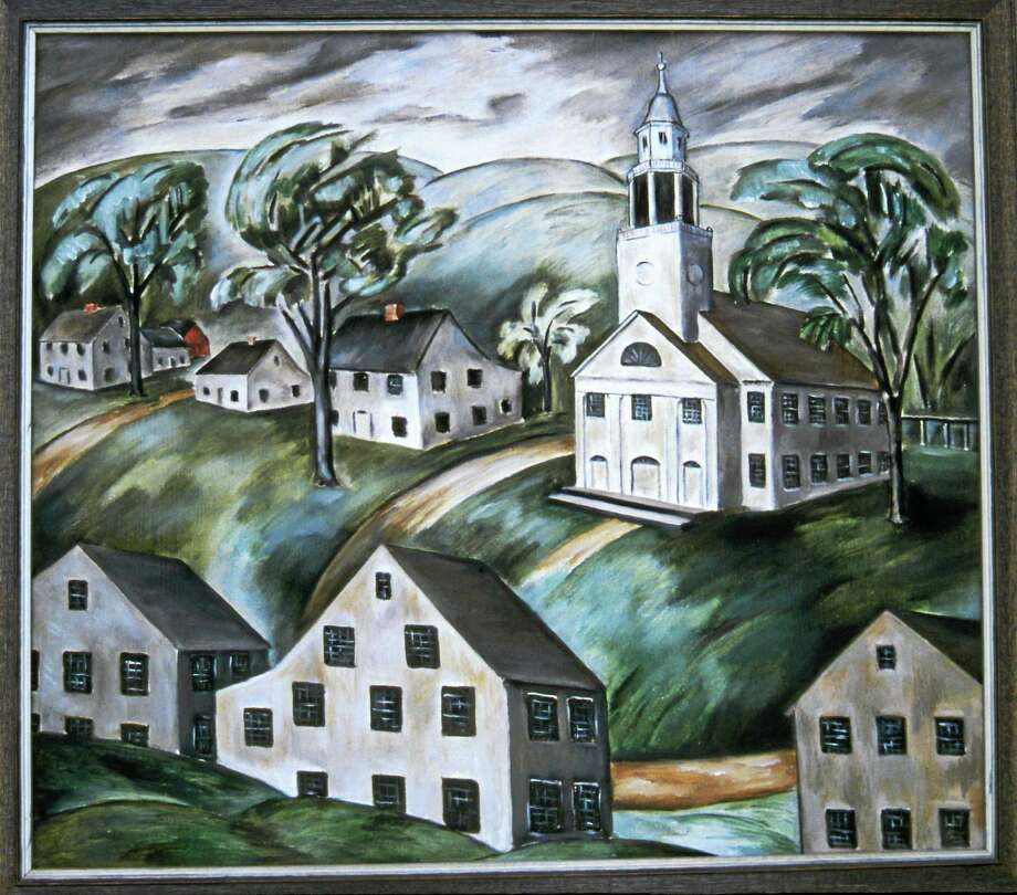 """White Houses, White Church, Woodbury"" by Natalie Van Vleck. Photo: Journal Register Co."