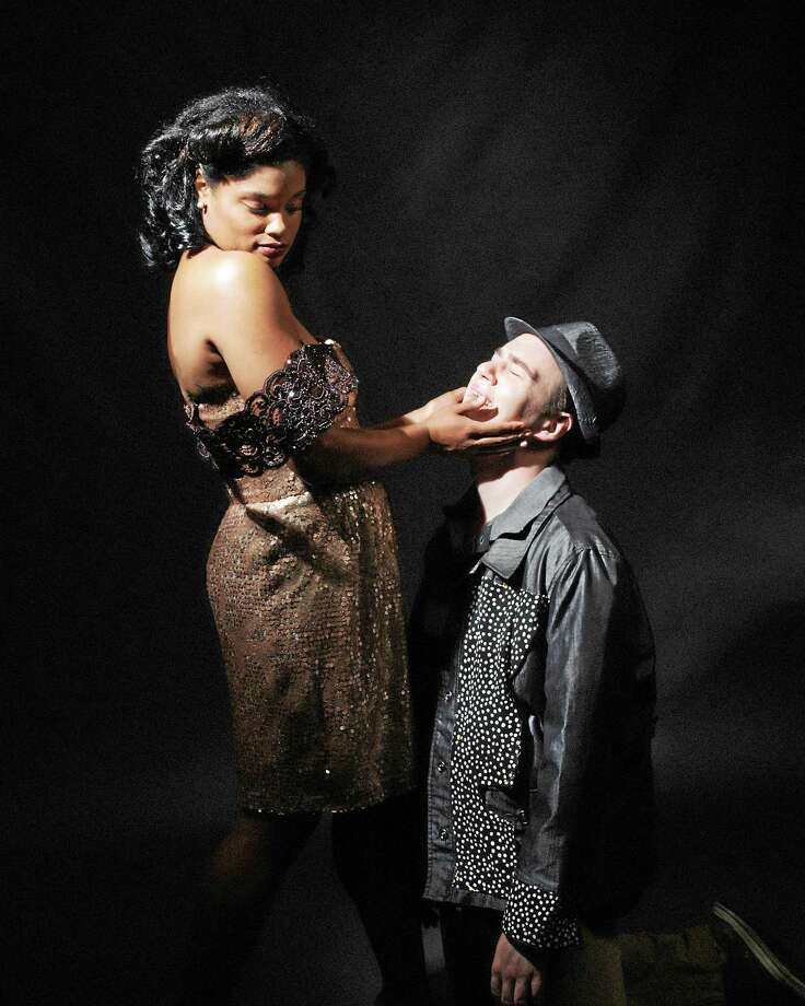 "Contributed photos Landmark Community Theatre's Samantha Bass as Felicia and Daniel Beaudoin as Huey Calhoun perform a scene from ""Memphis"" opening Sept. 19 at the Thomaston Opera House. Photo: Journal Register Co. / Lisa Cherie Portrait"