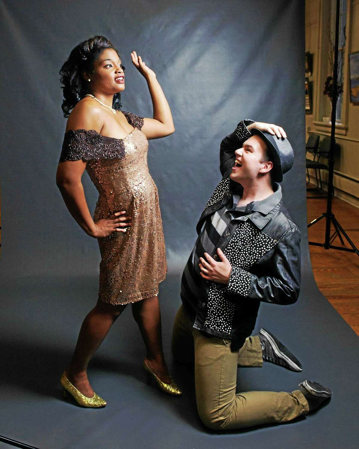 """Contributed photos Landmark Community Theatre's Samantha Bass as Felicia and Daniel Beaudoin as Huey Calhoun perform a scene from """"Memphis"""" opening Sept. 19 at the Thomaston Opera House."""