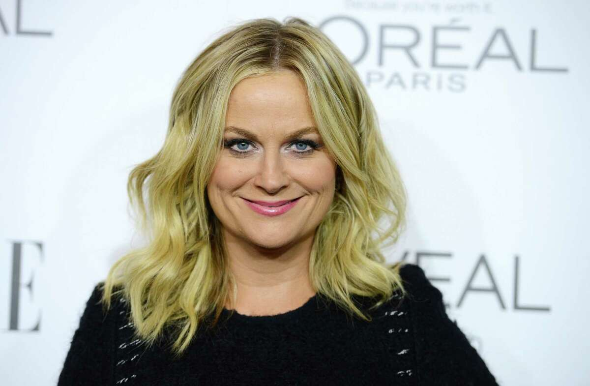 FILE - In this Oct. 20, 2014 file photo, Amy Poehler arrives at ELLE's 21st annual Women In Hollywood Awards at the Four Season Hotel in Los Angeles. Poehler has been named 2015 Woman of the Year by Harvard University's Hasty Pudding Theatricals. The group said Tuesday, Jan. 6, 2015, Poehler's comedy ìfits so well with the Pudding's own tradition of satire and social commentary.