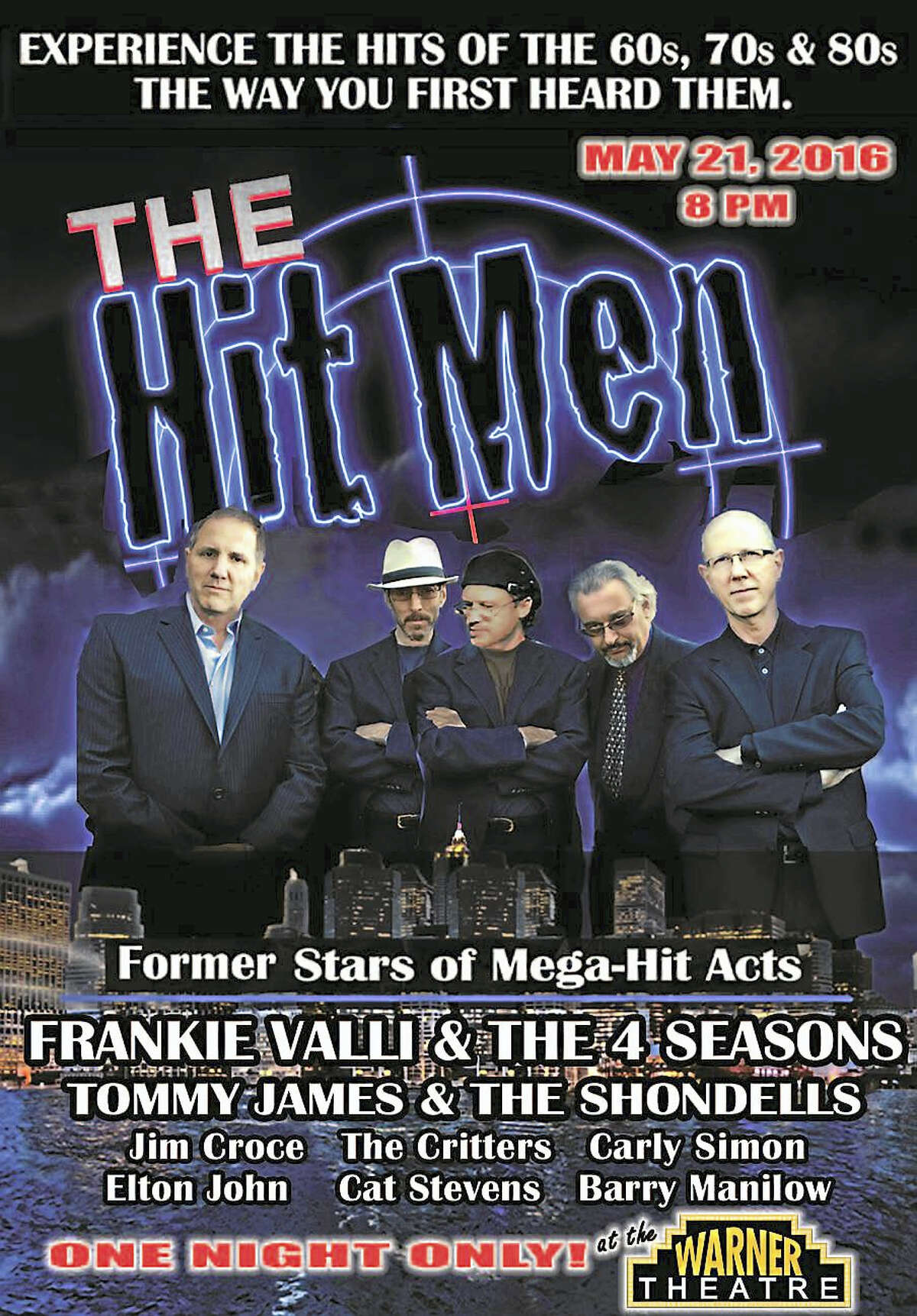 """Contributed image courtesy of the Warner Theatre """"The Hit Men"""" bring the music of past decades to the Warner Theatre in May; tickets are available now."""