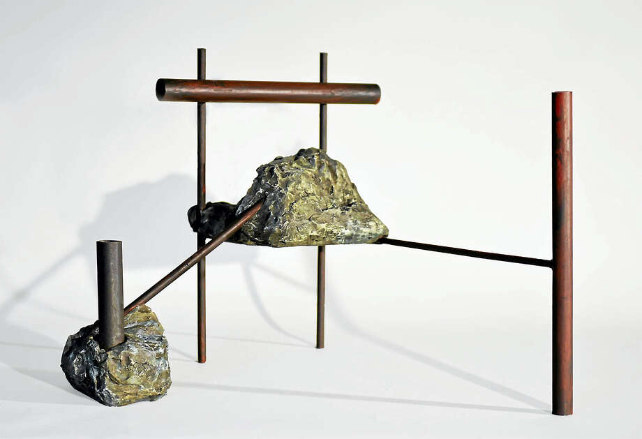 """Contributed photo Sculpture by Jilaine Jones, """"10 Year Fossil"""", 2015, 18"""" x 22"""" x D 18"""", Steel, Hydrocal, Patina Photo: Journal Register Co."""