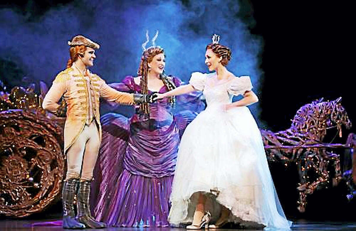 Photo courtesy of the Bushnell Performing Arts CenterCinderella is introduced to her footman by her Fairy Godmother in Cinderella at the Bushnell.