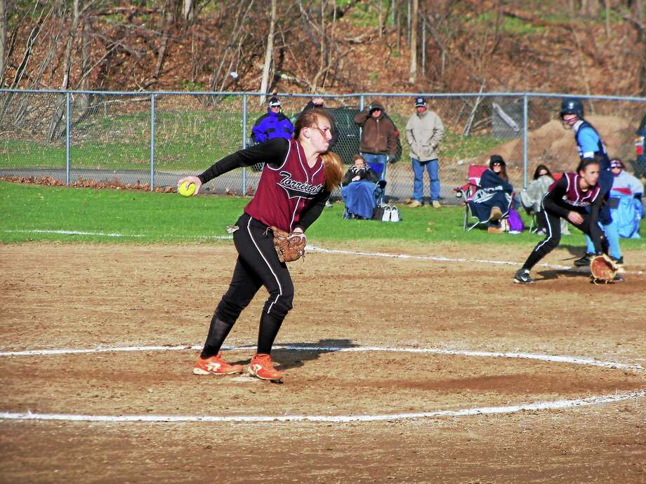 Peter Wallace — Register Citizen Torrington sophomore Ali Dubois pitched her first varsity no-hitter a week-and-a-half ago in a 12-0 Red Raider win over Ansonia. Photo: Journal Register Co.