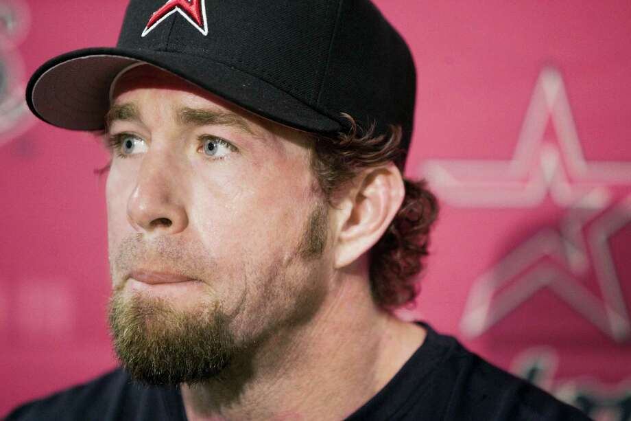 FILE - In this March 25, 2006, file photo, Houston Astros' Jeff Bagwell is shown during a press conference in Kissimmee, Fla. Bagwell could be elected into the Baseball Hall of Fame when voting is announced Wednesday, Jan. 6, 2016.  (AP Photo/Tony Dejak, File) Photo: AP / AP