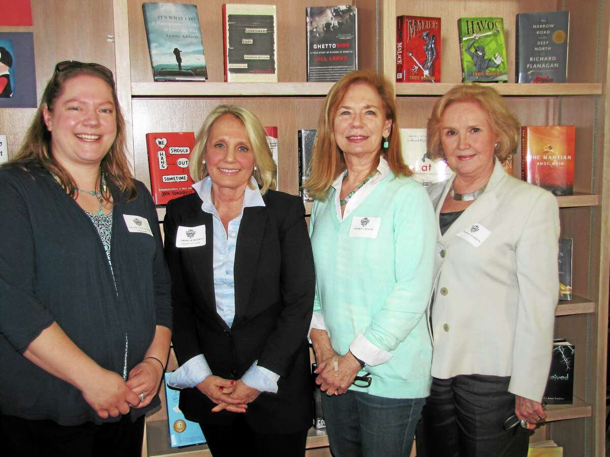 New Officers of the Litchfield Aid of CJR are pictured at the Aid's annual meeting from left: Kathleen Van Ormer of Litchfield, treasurer; Pamela McCann of Litchfield, president; Laura Lasker of Goshen, recording secretary; and Ruthann Olsson of Norfolk, vice president.