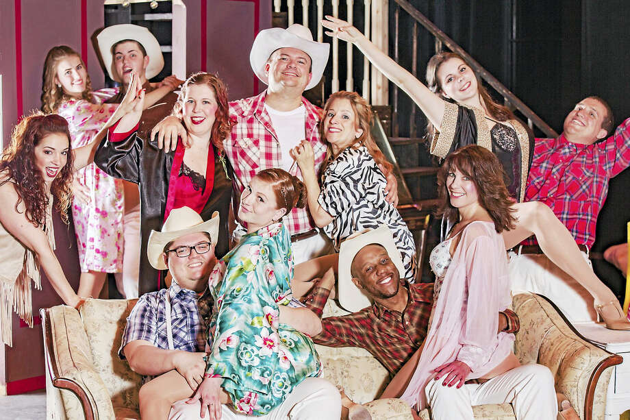 "The cast of ""The Best Little Whorehouse In Texas."" Photo: Journal Register Co. / http://www.mandimartini.com"