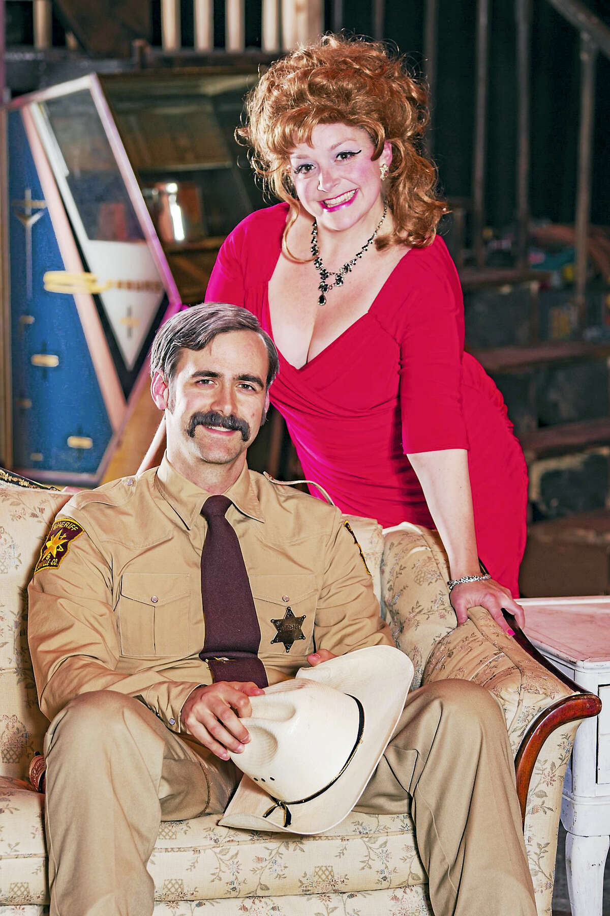 """Two of the performers in """"The Best Little Whorehouse In Texas."""""""