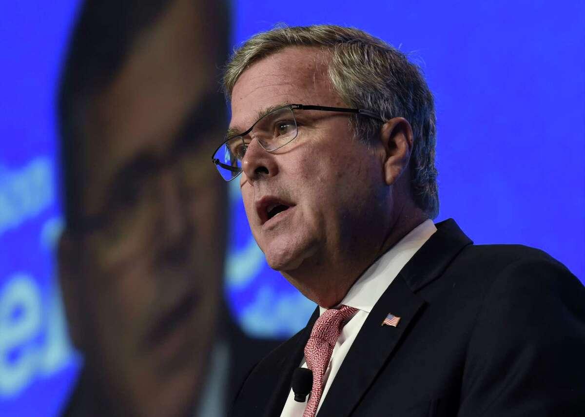In this Nov. 20, 2014 file photo, former Florida Gov. Jeb Bush speaks in Washington.