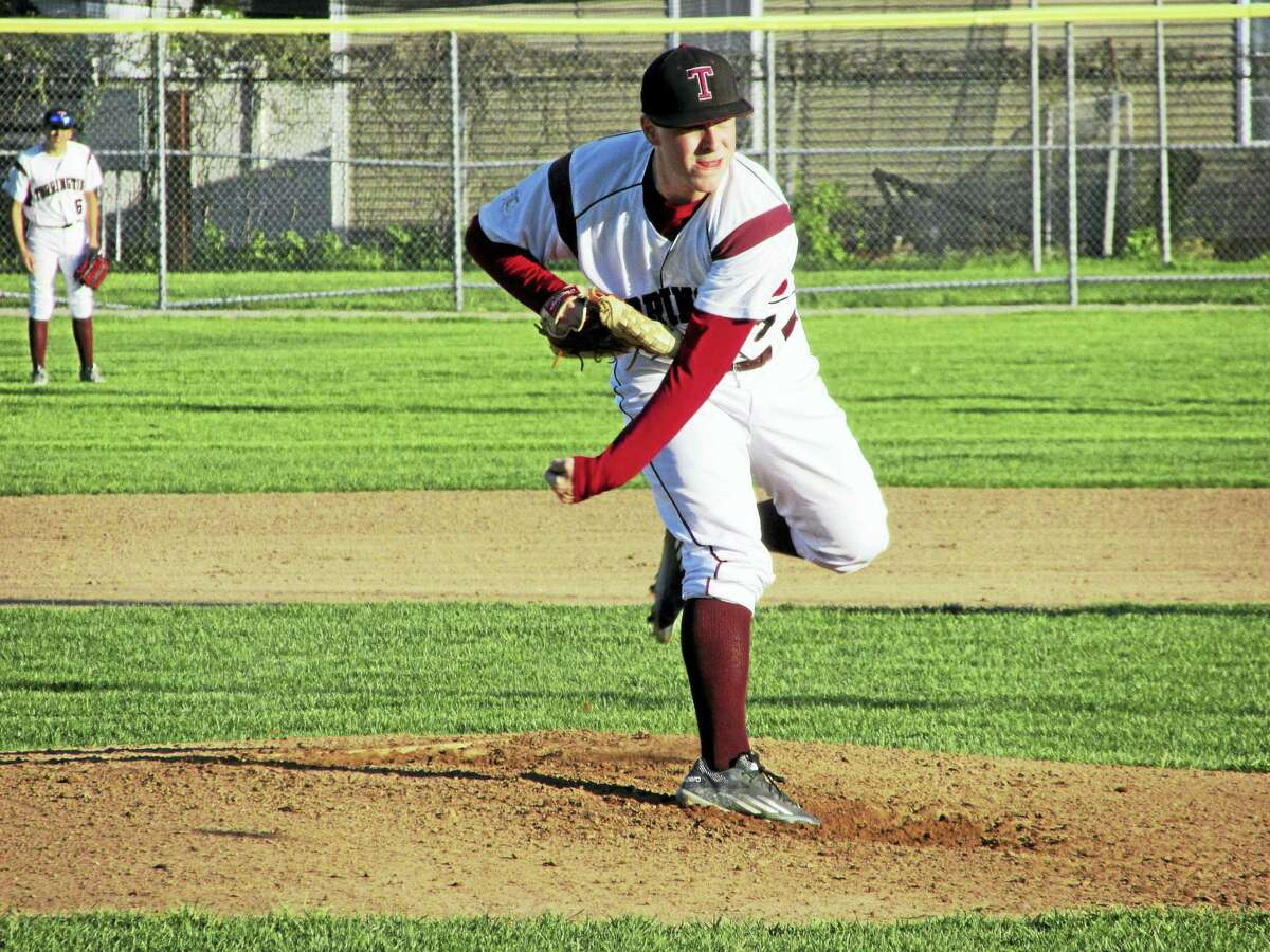 Photo by Peter Wallace Ben Vanotti was the first of five Torrington pitchers suffering through a red-hot Sacred Heart lineup Monday evening at Fuessenich Park.