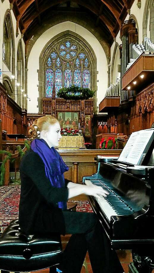 NF Ambery photo Pianist Annie Rose Tindall-Gibson plays a recital at St. Michael's Episcopal Church iin Litchfield on Sunday afternoon. Photo: Journal Register Co.