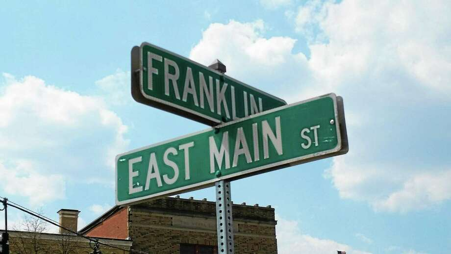 Franklin Street will be closed to vehicular traffic beginning June 1. Photo: Amanda Webster — The Register Citizen