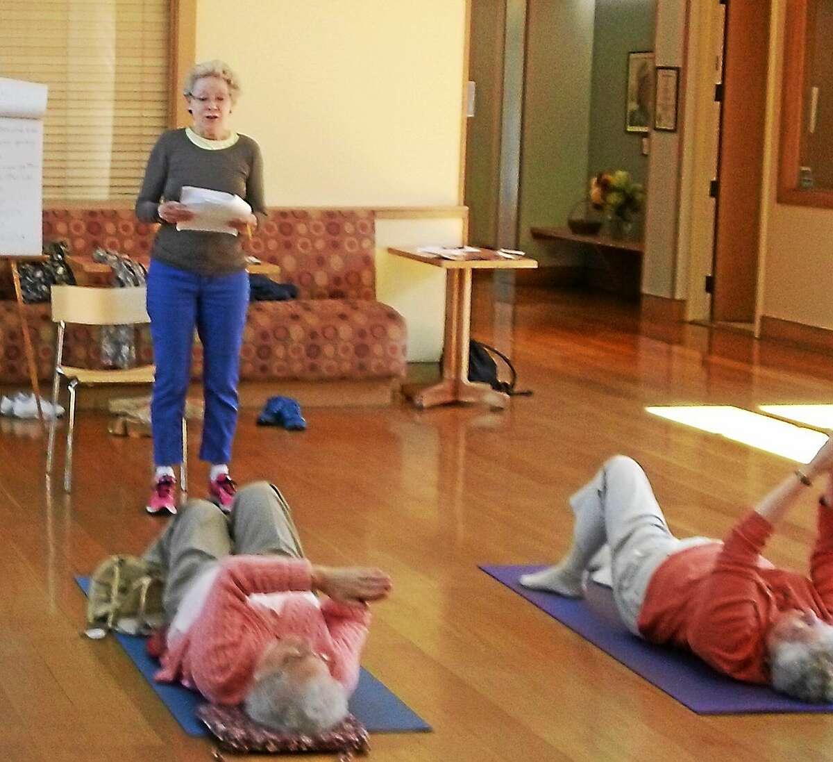 Pat Murphy teaching the Feldenkrais class at Litchfield Community Center. Contributed photo.