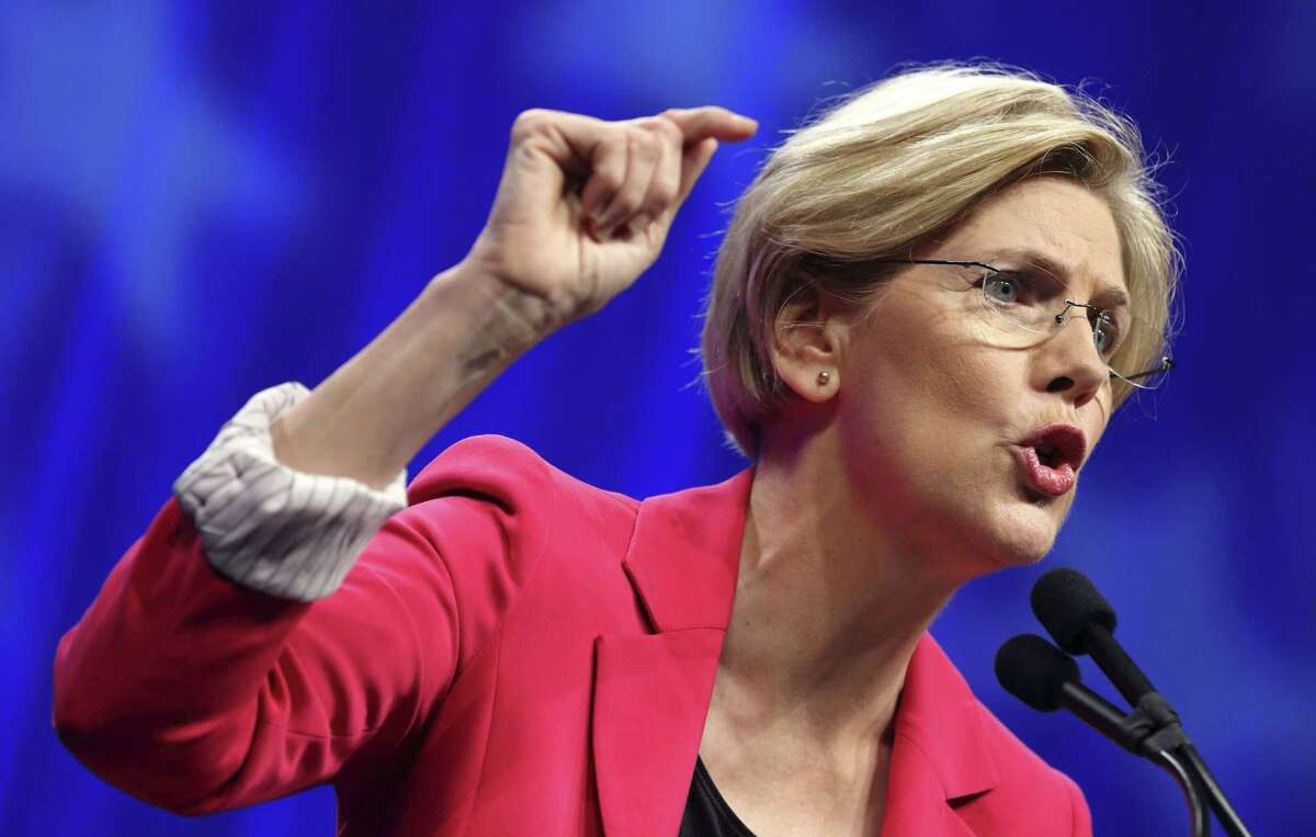 In this June 2, 2012, file photo, Massachusetts Democratic Senate candidate Elizabeth Warren speaks in Springfield, Mass.