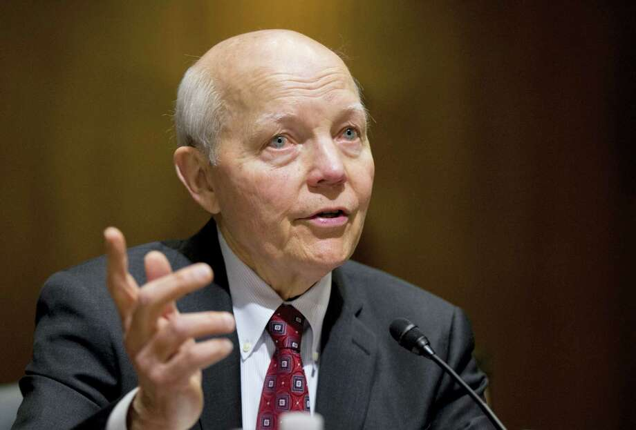 In this Feb. 10, 2016 photo, Internal Revenue Service (IRS) Commissioner John Koskinen testifies on Capitol Hill in Washington. A campaign-season effort by conservatives to impeach the IRS commissioner has no chance of succeeding and is being resisted by other Republicans who think it could hurt them with swing voters. Photo: AP Photo/Manuel Balce Ceneta, File  / Copyright 2016 The Associated Press. All rights reserved. This material may not be published, broadcast, rewritten or redistribu
