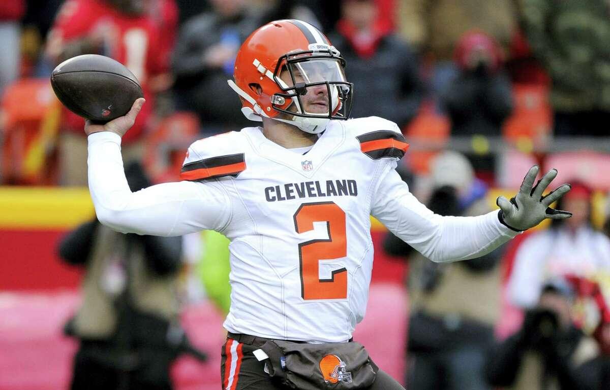 Cleveland Browns quarterback Johnny Manziel.