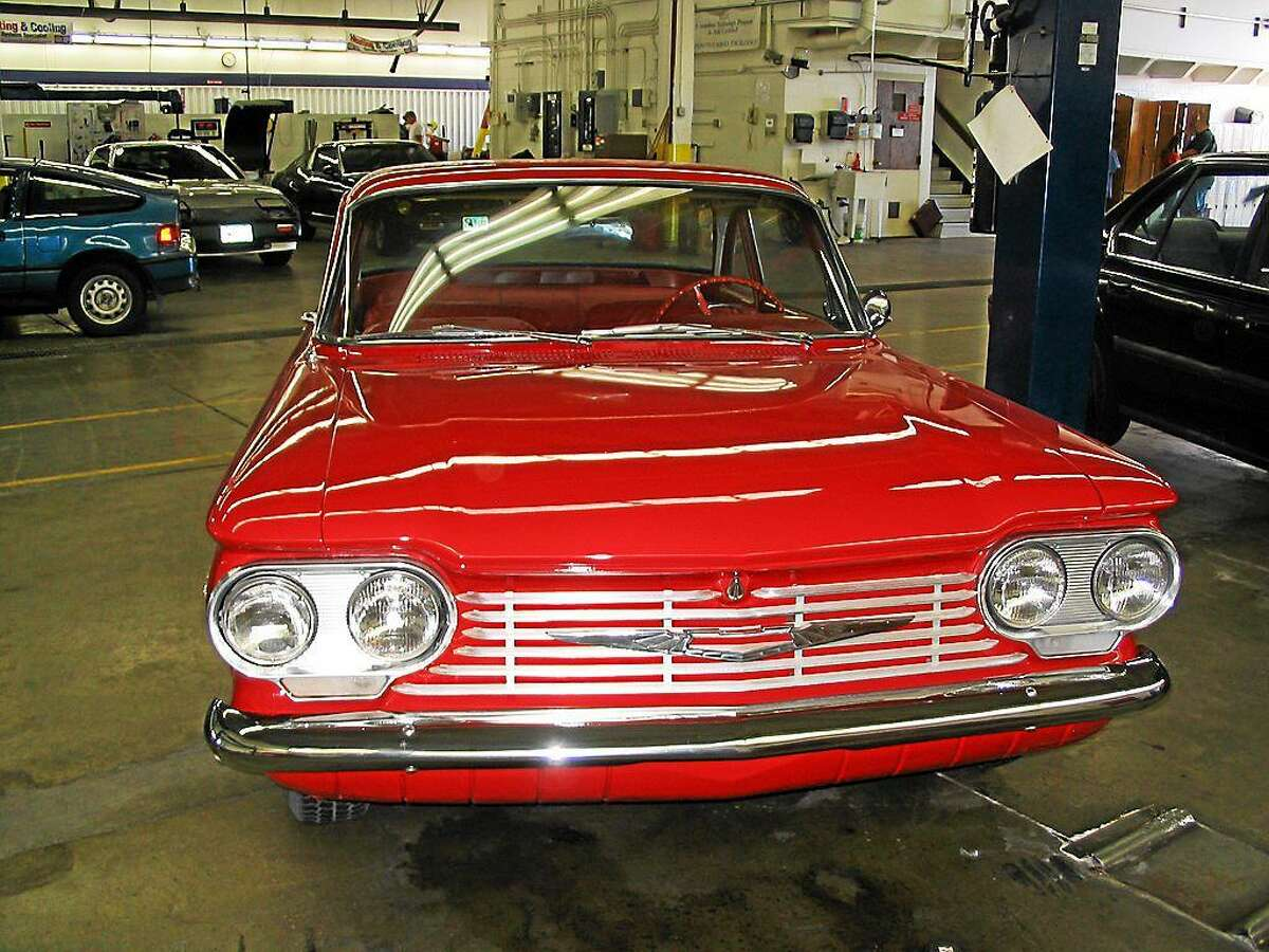 Chevrolet's Corvair was a car that consumers flipped over in the early 1960s, but was exposed by consumer advocate Ralph Nader for a tendency to roll over. It is displayed at his tort museum in Winsted.