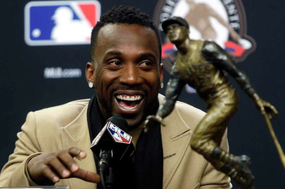 Pittsburgh Pirates center fielder Andrew McCutchen was announced as the Roberto Clemente Award winner for 2015 before Game 3 of the World Series on Friday in New York. Photo: Frank Franklin II — The Associated Press  / AP