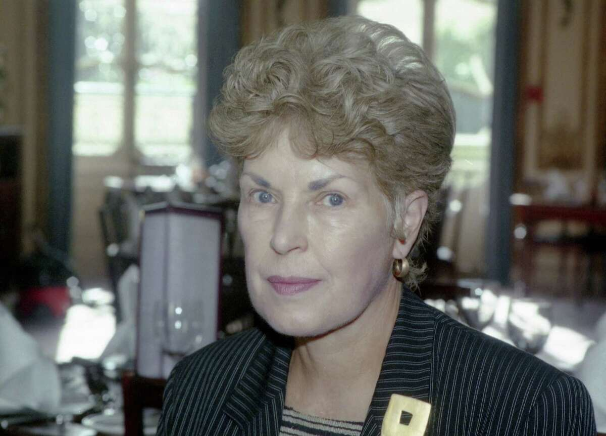 This 1995 file photo shows Ruth Rendell in London. Prolific crime writer Rendell has died.