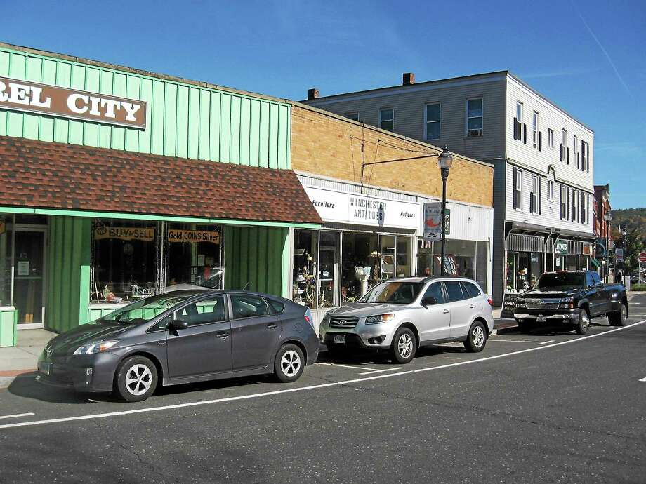 Antiques row on Main Street/Route 44 in Winsted. Photo: Photo By John Torsiello