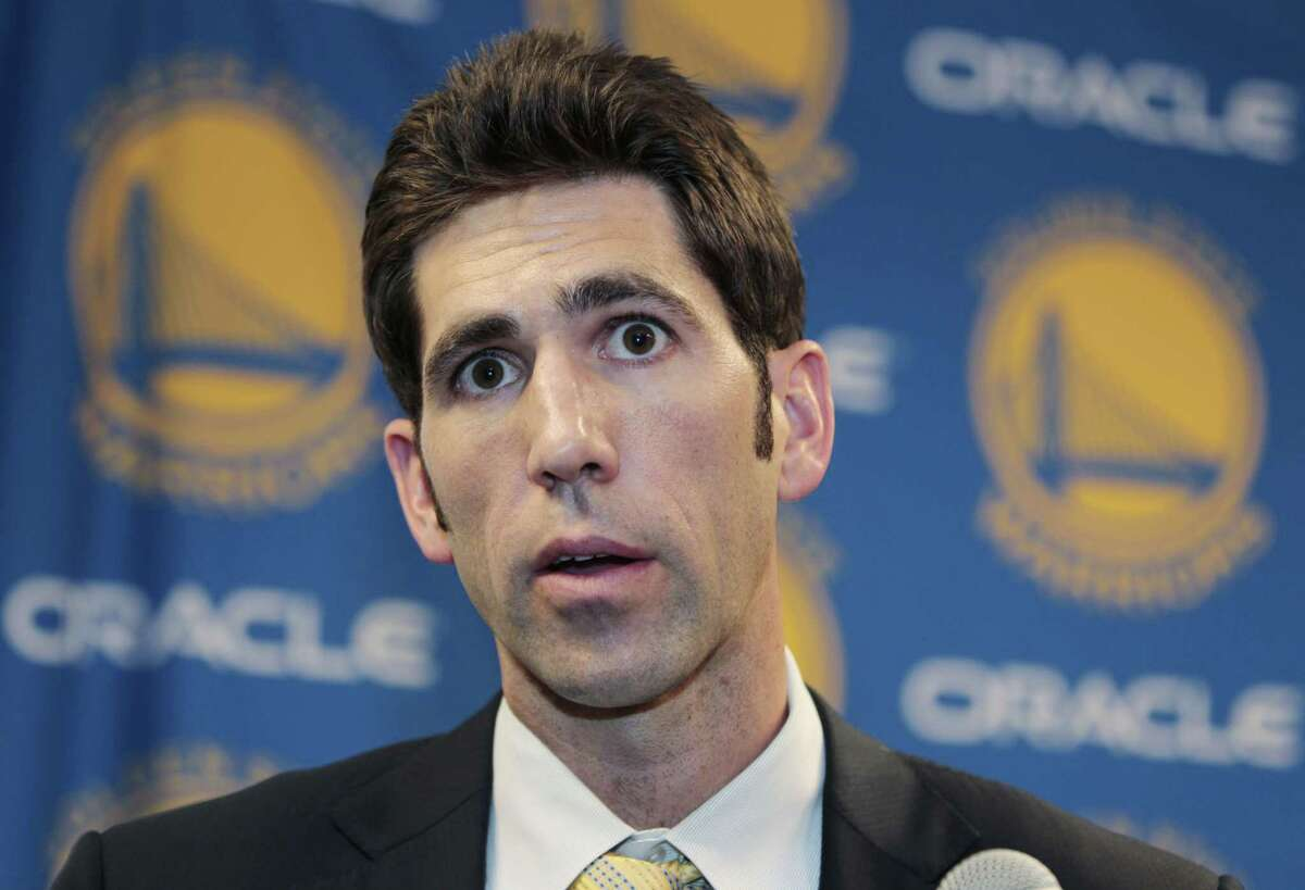 Golden State Warriors general manager Bob Myers won the NBA's executive of the year award Friday after assembling a roster that rolled to a franchise-record 67 wins.