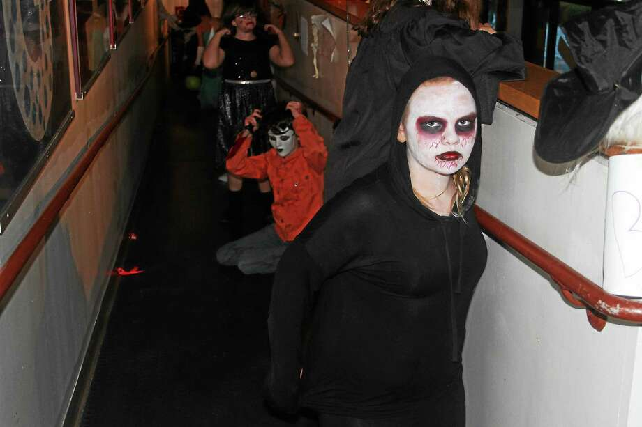 The Gilbert School hosted a free Halloween Trick or Treating event Friday evening that attracted more than 250 community children and parents. Photo: Manon L. Mirabelli — The Register Citizen